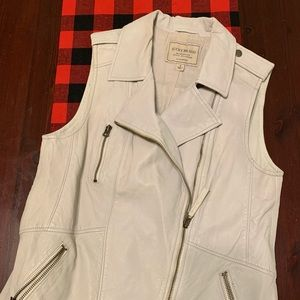 Lucky brand beige leather vest